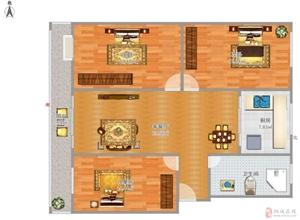 山水龙城3室2厅1卫70万元