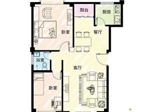 90万买三房,新天地阳光城,2房可改3房,一梯两户