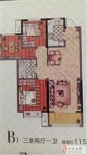 河东岸3室毛坯带地下室南北通透学区房随时看房