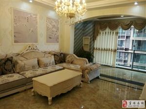 翰林福邸3室2卫家具家电全齐有大阳台、鱼池92.8万