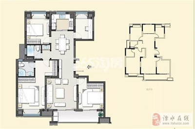 建发央誉125�O四室两厅两卫户型