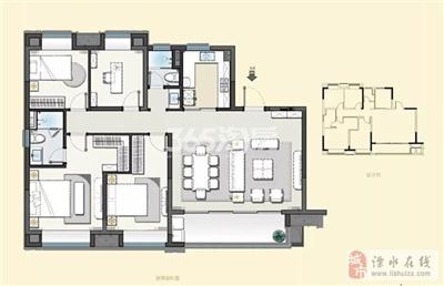 建发央誉140�O-1四室两厅两卫户型
