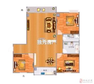 开发区龙腾首府毛坯三室中间楼层80万元