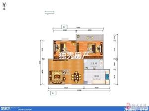 香山公馆精装2室全新家具家电全丢满二年