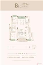 建筑面积约为115.76平方