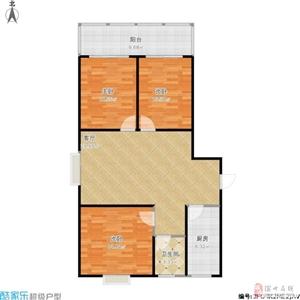 时间�u家3室2厅1卫102万元