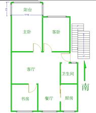 滨河御花园3室2厅1卫98万元