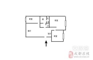 金堂水城师苑3室1厅1卫93平米