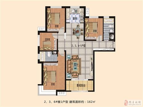 1户型2、3、6号楼盘 162平方米