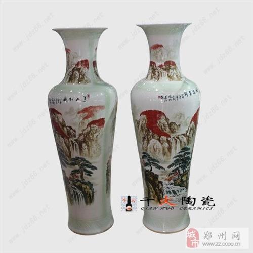 手繪陶瓷大花瓶禮品大花瓶廠家