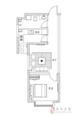 万泰鑫城嘉园1室1厅1卫55万元