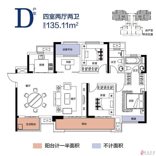 D户型高层-四室两厅两卫