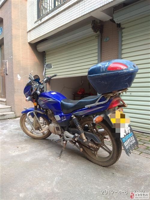 金沙游戏8成新豪爵铃木钻豹男式摩托车一辆