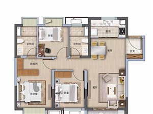 3室2�d2�l100平米