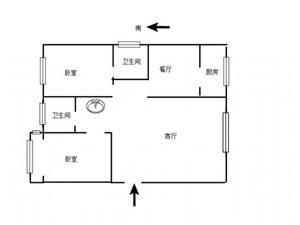 田丰高新国际2室精装满二可按揭60万元