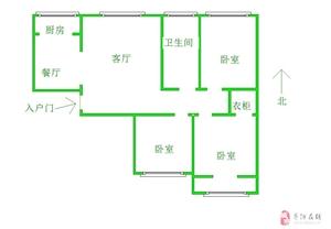 二小三中学区北国之春精装通透三室有房产证