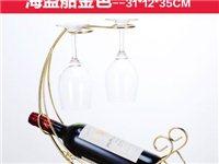 海盗船创意酒架欧式葡萄酒架送二个全新高脚酒杯
