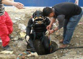 鄭州蛙人潛水打避水墻疏通價格最低