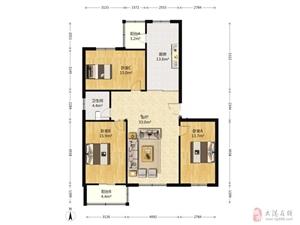 福苑里3楼126南北通厅大三室户型明厅明厕