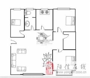 华龙家园精装房带车库三居室,可按揭过户