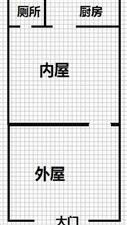 水利局家属楼门市也可做住宅1室1厅1卫非中介