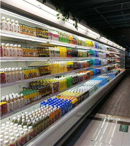 較低價格定做風幕柜水果展示柜,水果保鮮柜