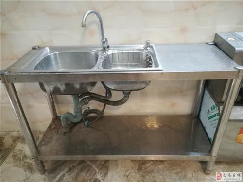 不锈钢洗菜池(双池,带操作台)