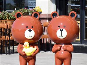 哪里有賣人偶熊雕塑的找熊擺件13257632161