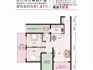 黔西金石明珠小镇2室2厅1卫42万元可贷款