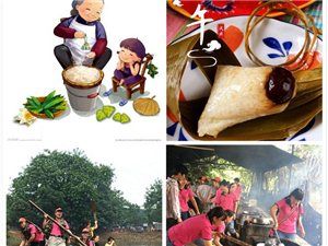 端午節假日好去處台湾農家樂野炊包粽子