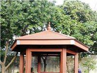 惠州欣源木塑木塑涼亭乘涼休憩涼亭木塑制品