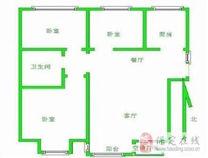 �f和城120平大三室首付55�f中等�b修
