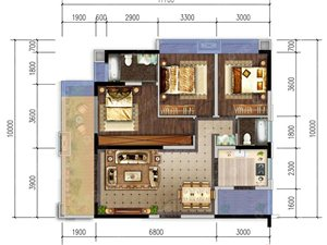 E-3室2厅2卫-118.1�O