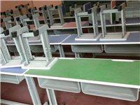 处理闲置九成新双人课桌,带椅子,可做培训用