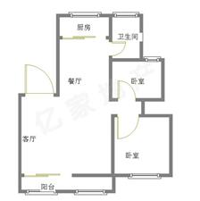 燕京花园三期2室2厅1卫57万送储藏室