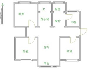 义和佳苑3室2厅1卫1250元/月有储藏室