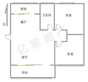 燕京花园2室2厅1卫62万送储藏室满五唯一