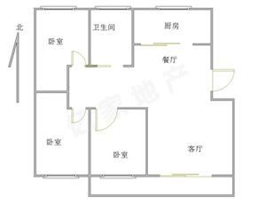 燕京花园3室2厅1卫80万有储藏室,满五唯一