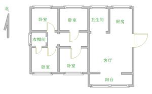 燕京花园3室2厅1卫85万,满五唯一