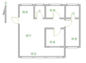 燕京花园3室2厅2卫79万送储藏室满五唯一