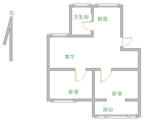 燕京花园2室2厅1卫850元/月
