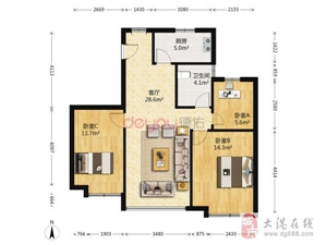 香逸园3室1厅1卫160万元