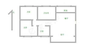 万佳阳光城3室2厅1卫80万精装修送储藏室