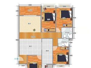 �d隆大�B125平米小高�与�梯毛坯四房售68.8�f