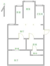 满五唯一3室一楼带院子46.5万随时看房