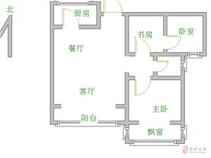 雍景苑二期精装修送家具2室已改三室85万送储藏室