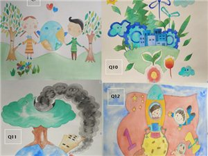 少儿亲少年科技创新、绿色能源、科幻环保画
