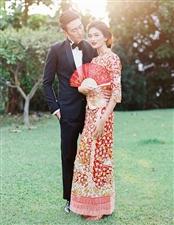 中式新娘礼服图片 华丽的新娘礼
