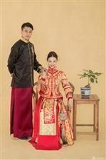 中国红婚纱照