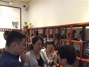 上海国际文化装备产业园管理公司董事长一行来周韵考察投资合作